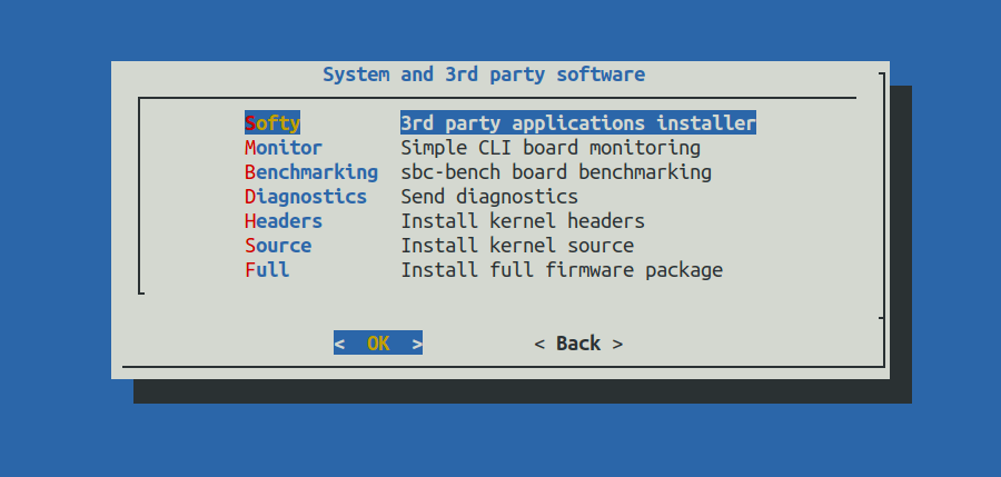 System and 3rd party software
